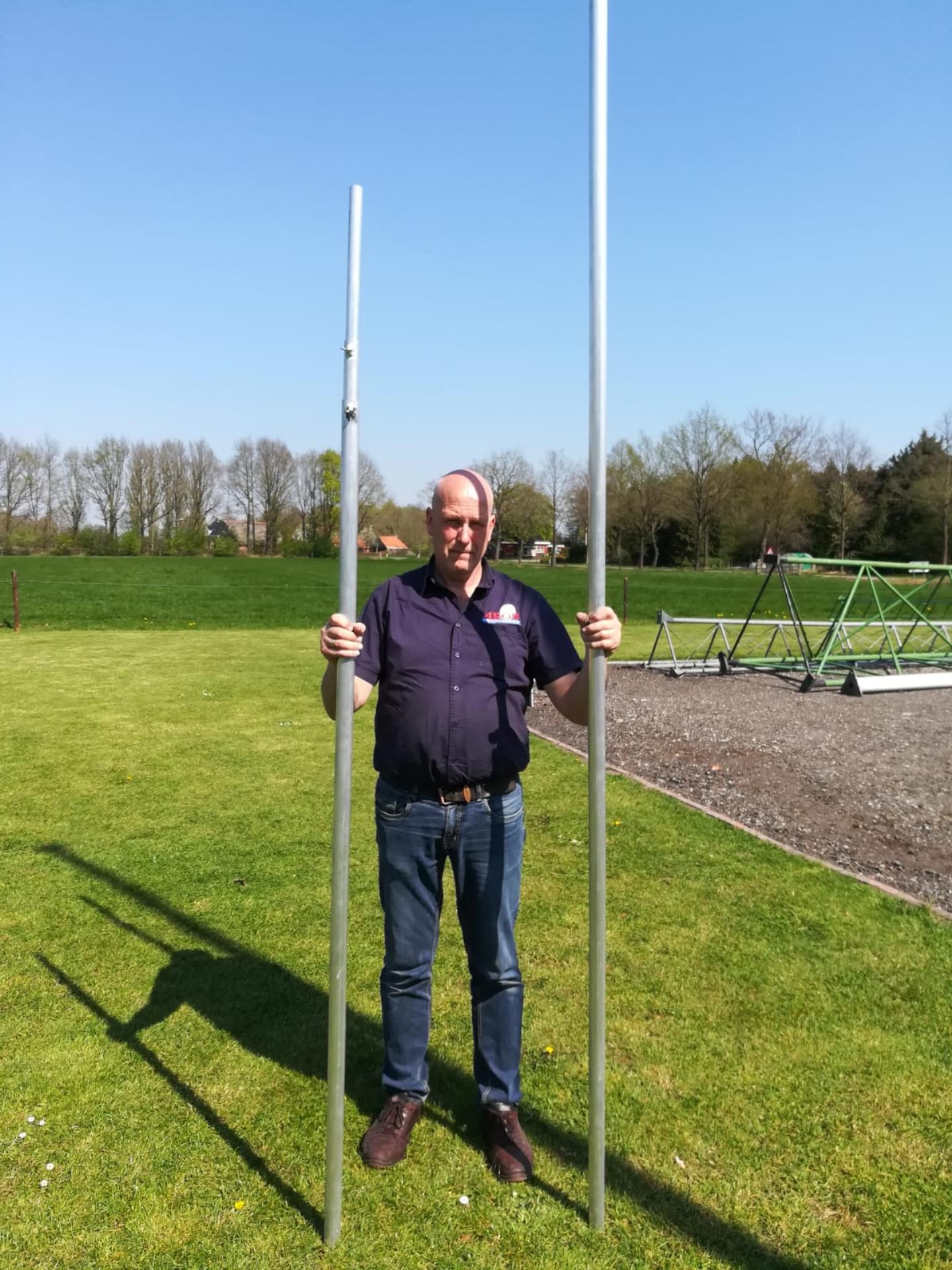 Arob Antennebouw  3 delige aluminium schuifmasten - 5,4 en 8,4 meter